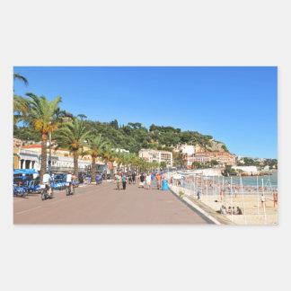 Promenaden-DES Anglais Rechteckiger Aufkleber