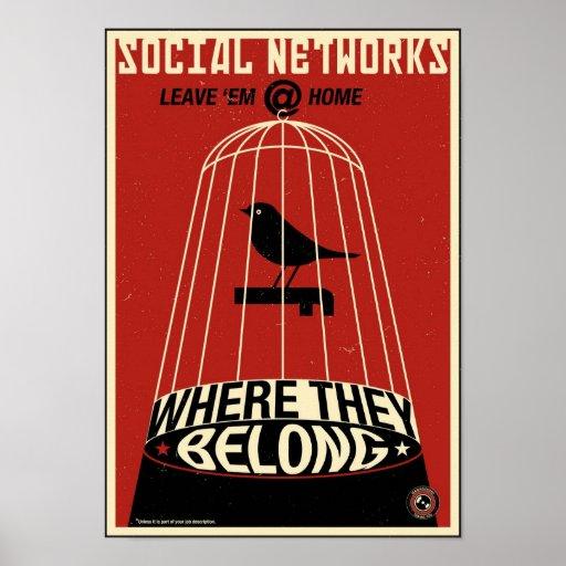 Propagande de bureau : Réseau social Posters