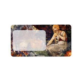 Prophetess durch Alfons Mucha 1896 Adressaufkleber