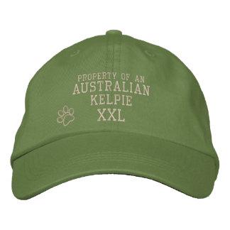 Propriété de chapeau brodé par Kelpie australien
