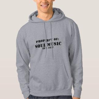 Propriété de la musique d'âme pull avec capuche