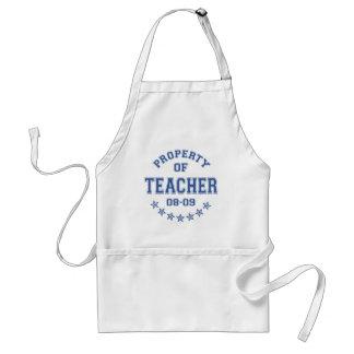 Propriété de professeur tablier
