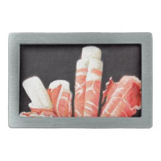 Prosciutto-Verpackungen Rechteckige Gürtelschnalle