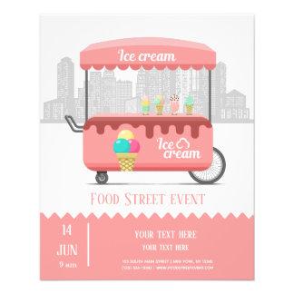 Prospectus 11,4 Cm X 14,2 Cm Crème glacée de rue de nourriture
