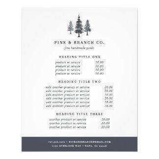Prospectus 11,4 Cm X 14,2 Cm Évaluation et services de forêt d'hiver