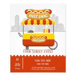 Prospectus 11,4 Cm X 14,2 Cm Hot dog de rue de nourriture