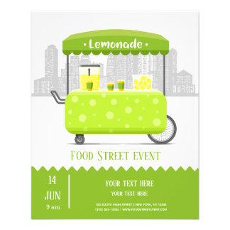 Prospectus 11,4 Cm X 14,2 Cm Limonade de rue de nourriture