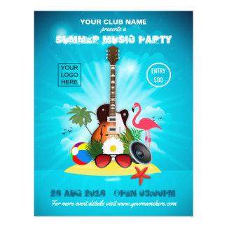 Prospectus 21,6 Cm X 24,94 Cm La partie de musique d'été de club ajoutent le