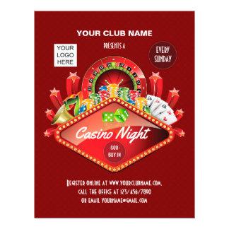 Prospectus 21,6 Cm X 24,94 Cm La partie de nuit de casino de club personnalisée