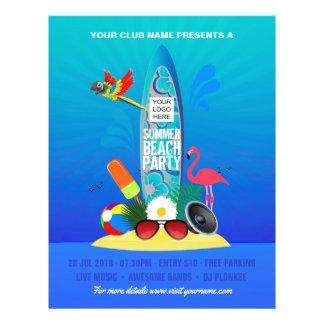 Prospectus 21,6 Cm X 24,94 Cm Le club/partie d'entreprise de plage d'été
