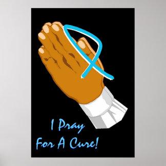 Prostatakrebs-Bewusstsein, das ich für einen Heilu Poster