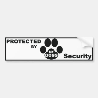 Protected by MY DOGS Autocollant De Voiture