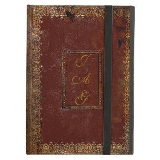 Protection iPad Air Vieille couverture de livre victorienne en cuir de