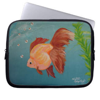 Protection Pour Ordinateur Portable Douille orange d'ordinateur portable de poisson