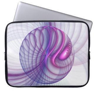 Protection Pour Ordinateur Portable Rose abstrait d'art de fractale de beaux