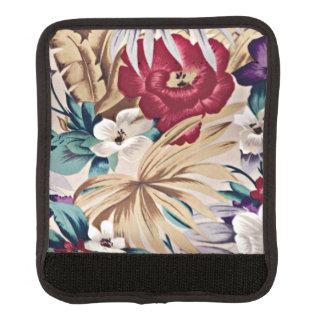 Protège Poignée Pour Bagage Rétro motif de fleur tropical