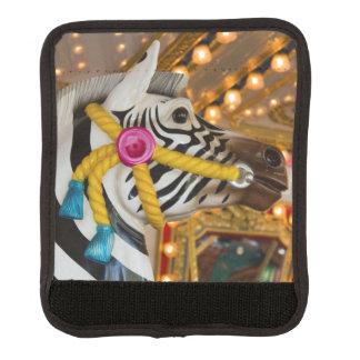 Protège Poignée Pour Bagage Tour de carrousel de manège de cheval de zèbre