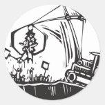 Protest Crane Sticker