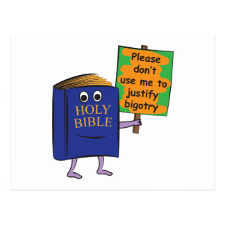 Protest der Bibel Postkarte