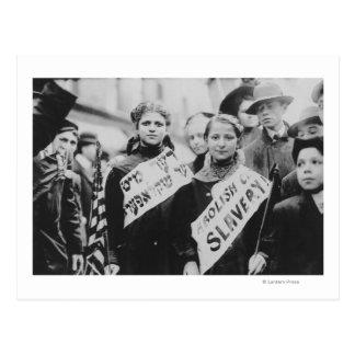 Protest gegen Kinderarbeit in der Arbeitsparade Postkarte