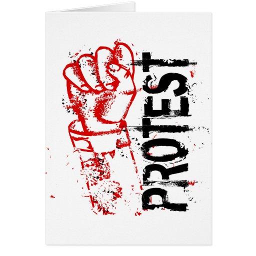 PROTEST GRUßKARTE