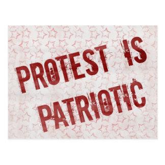 Protest ist patriotisch postkarte