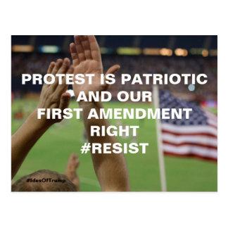 Protest ist patriotischer postkarte