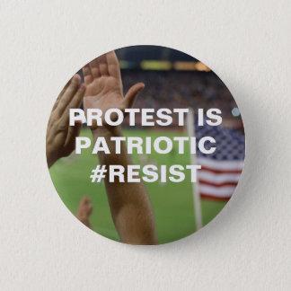 Protest ist patriotischer Widerstand Runder Button 5,7 Cm