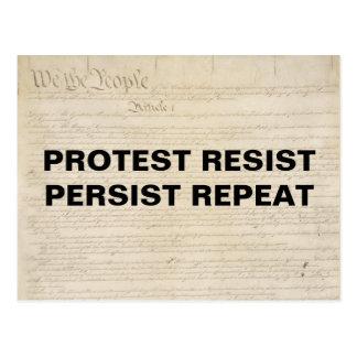 Protest widerstehen fortbestehen Wiederholung wir Postkarte
