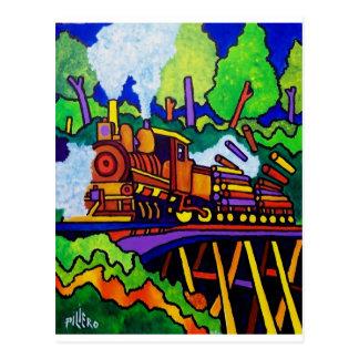 Protokollierungs-Zug Postkarte