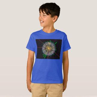 Proton-Zusammenstöße am T - Shirt des LHC Kindes