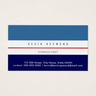 ProVisitenkarte mit zwei Tönen des Blaus Visitenkarte