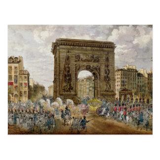 Prozession von Papst Pius VII in Paris Postkarte