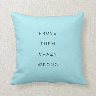 Prüfen Sie sie falsches inspirierend Kissen