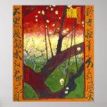 Prunier fleurissant de Van Gogh (Hiroshige) (F371) Posters