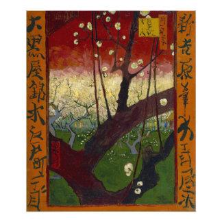 Prunier fleurissant par Vincent van Gogh Tirage Photo
