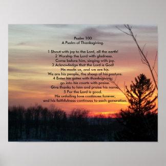 Psalm 100   ein Psalm des Erntedanks Poster