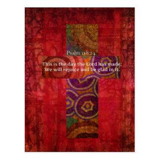 Psalm-118:24, das christliche Kunst des Postkarte