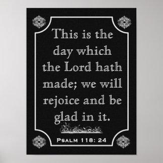 Psalm-118:24 --- Kunst-Druck Poster