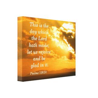 Psalm-118:24 Leinwand-Druck Leinwanddruck
