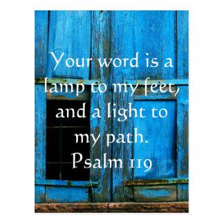 Psalm 119 Ihr Wort ist eine Lampe zu meinen Füßen Postkarte