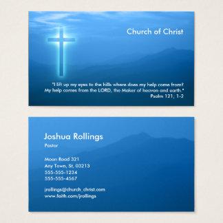 Psalm 121; 1 2% pipe% glühendes christliches Kreuz Visitenkarte
