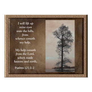 Psalm-121:1 - ~Lift 2 herauf Bergwerk eyes~ Poster
