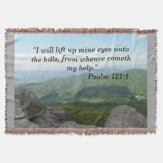 Psalm-121:1 Wurfs-Decke blaues Ridge Moutains Decke
