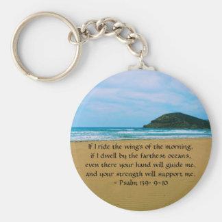 Psalm-139:9 - SCHÖNES BIBLISCHES ZITAT 10 Standard Runder Schlüsselanhänger