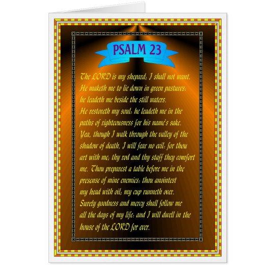 PSALM 23 GRUßKARTE