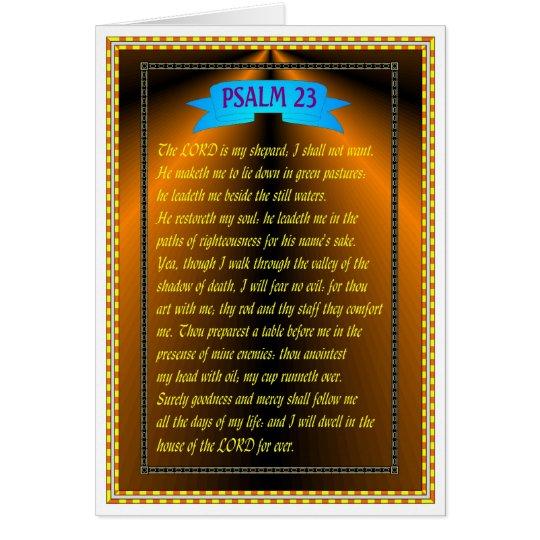 PSALM 23 KARTE