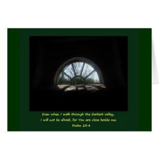 Psalm 23; Schwierige Zeit Karte