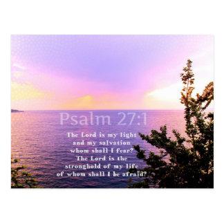 Psalm-27:1 INSPIRIEREND BIBEL-VERS Postkarte
