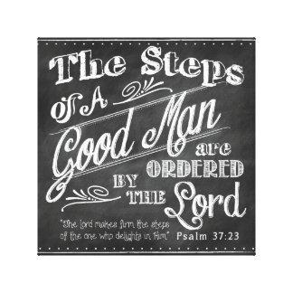 Psalm-37:32 der Vatertags-eingewickelte Leinwand Gespannter Galerie Druck